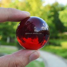 3CM Red Asian Quartz Crystal Glass Ball natural stones and minerals Healing Crystals Balls Sphere Fengshui Figurines Products