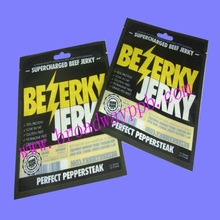 logo custom plastic heat sealed food package for beef jerky
