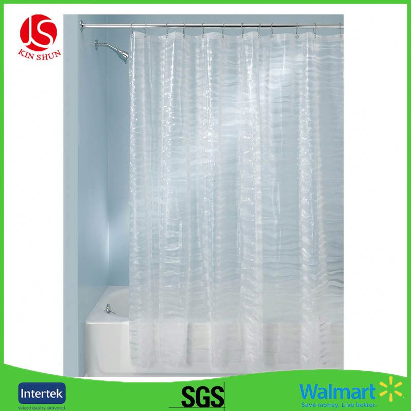 Eco-friendly PEVA bathroom curtain gray shower curtain