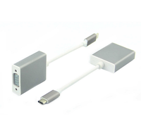15cm white pvc usb-c to vga adapter for macbook