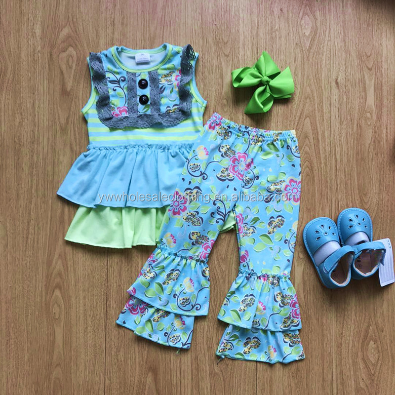 bangladesh wholesale kids clothing 2018 girls vintage clothing set childrens boutique clothing