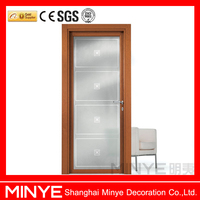 Aluminum door with brick mould interior glass door design in China