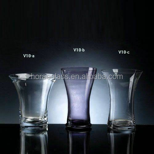 Wholesale morden colored glass vase for home decoration