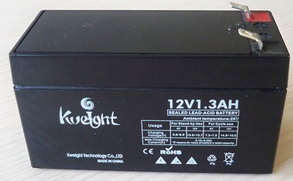 12 volt small size rechargable 12v 1.3ah lead acid battery