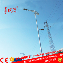 Hot dip galvanized round tapered led street lighting columns