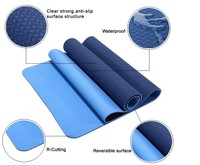 J-so All-Purpose Eco Yoga Mat,3.5mm Thick,2 in 1 Designed(Mat/Towel),Foldable,Reversible,Machine Washable,Biodegradable Material