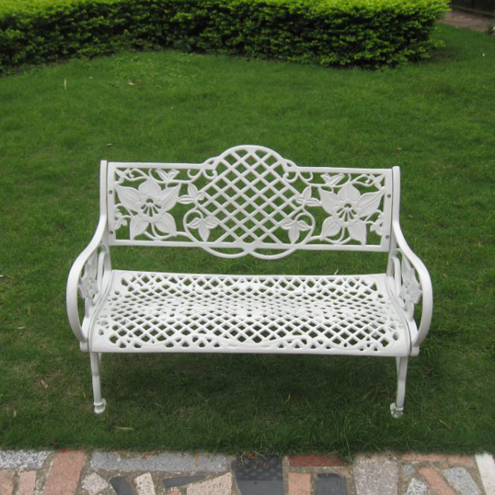 Cheap White Wrought Cast Iron Outdoor Table And Chair