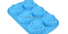 6 cups newst rose shaped BPA free baking silicone cupcake mold container
