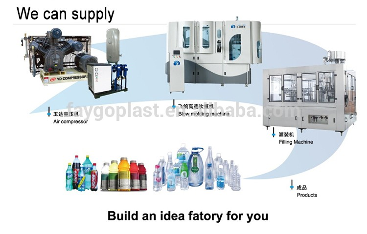 PET Plastic Bottle Manufacturing Machine 8 Cavity For Carbonated / Hot Filling Bottles