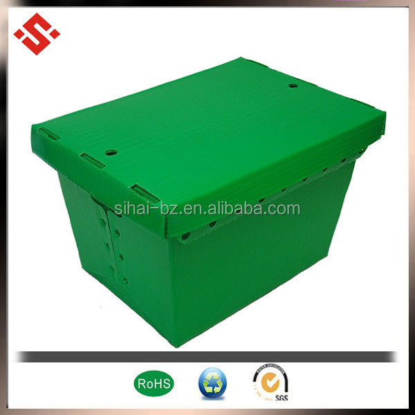 5mm heat resistance plastic polypropylene hollow foldable wholesale plastic totes storage box