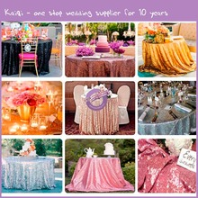 TX28043 wedding colorful metallic sequin embroidery table cloth