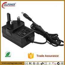 CE RoHS certification UK to Euro plug 24v 1.2 a wall ac adapter with DOE VI level