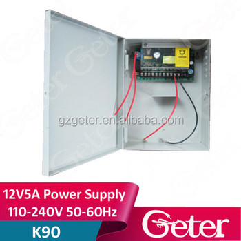 12V5A 110V-240V 50-60HZ Power Supply for access control system (Can contains battery)