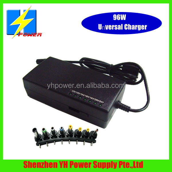 Factory Discount Sale Universal Charger 96W 12V-24V/DC Output Fit for HP,DELL,SAMSUNG