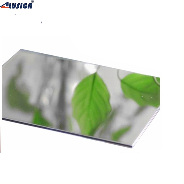 Alusign Cladding Mirror Aluminum composite panel fiberglass honeycomb sandwich panel for internal and external uses