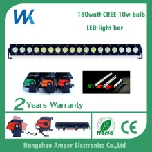 180w straight 31'' single row waterproof spot beam flood beam driving bright led light bars
