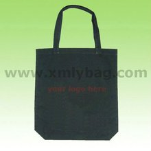 New Design Black Cotton Canvas Bag for Shopping