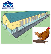 Layer egg chicken cage/poultry farm house design egg chicken house design for layers metal chicken house