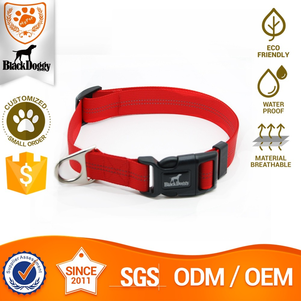 Eco-Friendly Nylon Material Fitting A Pet Dog D Rings Collar Making Supplies OEM Service