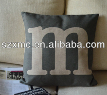 Modern throw pillows vacuum personalised design letter sleeping throw pillow