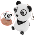 eyes pop out cute plastic panda keychain