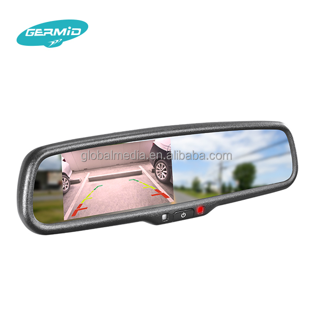 germid around view monitor system EV-043LA Full HD 1080P car dvr rearview mirror with wireless rear camera