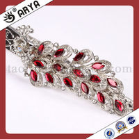 Metal Curtain Clips With Resin Flower Rhinestone For Curtain Drapery Valances Mosquito Net