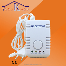 Independent alarm sound and light gas sensor,LPG CNG gas leak detector with manipulator