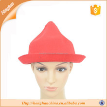 wool felt hat, cap brim raise shaping cap,Bright color