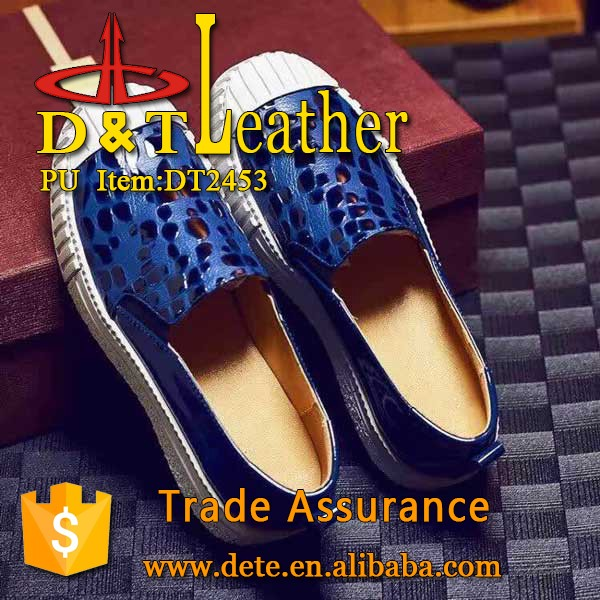 pu shoes leather for lady