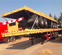China Factory Price 40 Feet Flat Bed Container Semi Trialer
