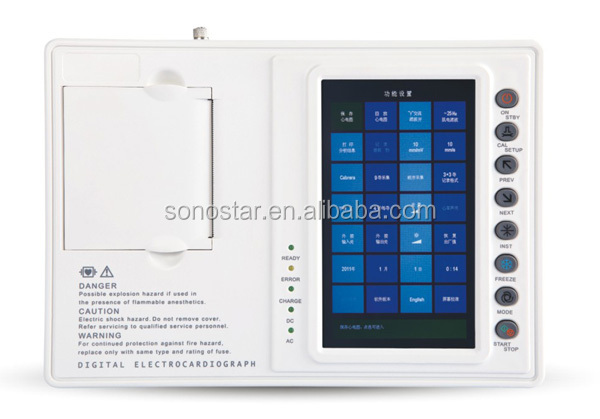 Cheap best sell 12 channel mobile ecg