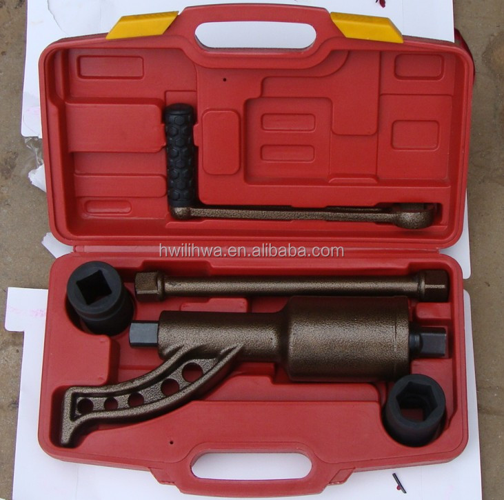 Tire repair tool, torque multiplier, labor saving wrench