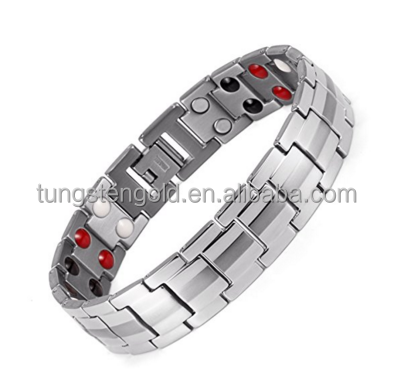Healthy Stainless steel Magnetic Therapy Bracelet with magnets, far infrared, germanium, negative Ion bracelet