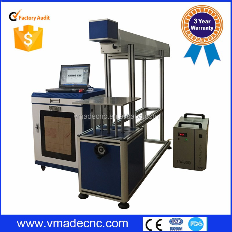 High accuracy button printing machine/co2 laser marking machine / Co2 laser marking machine for 30W 60W 80W
