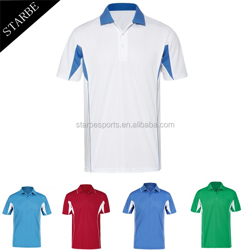 High quality fashion 100% polyester 150 grams custom embroidered logo men white polo shirt