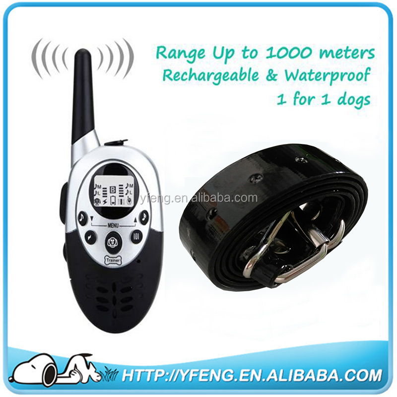 Hot Sale E613 completely Waterproof 8 Levels Shock 8 Levels Vibration LCD Pet Dog Training Collar Rechargeable 1000M