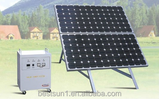 Bestsun BPS 500w with CE TUV proved high quality solar generator trailers