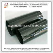 3K Twill Weave Glossy Carbon Fiber Large Diameter Thin Tube