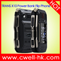 UNIWA TRANS X10 Dual Screen Big Battery Transformer Power Bank Flip Phone Rugged Style