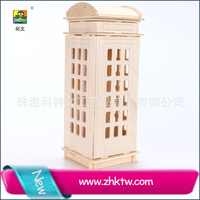 2016 Cotowins Chrysler design diy paper craft 3d puzzle Telephone booth building