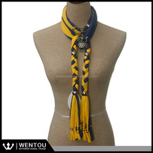 Beautiful fashion jewelry scarf decorated with beads scarf