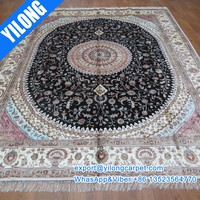 8x10 ft Attractive pink color large hand woven persian rugs