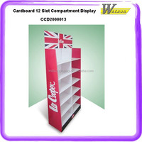 promotion advertising cardboard ipad display floor compartment stand for Milk Chocolate bar
