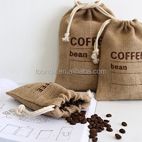 Reusable Cereals Jute Coffee Bean Bags Kitchen Sundries Peas Bags