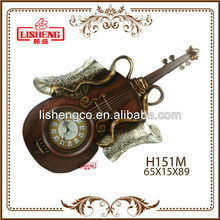 Guitar shaped wall clock H151M