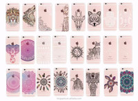 Crystal Clear Deer Lion Fox Sun god Tortoise Printed Phone Case Cover For iphone 6