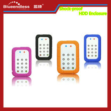 Keypad Lock HDD Enclosure 2.5 Inch Aluminum + Silicone Case Shock-proof