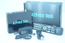 2016 Newest AZFREE DUO sks twin tuner receptor iks free with iptv,3G gprs,wifi for South America