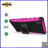Heavy Duty Shockproof Stand Hard Back Case Cover for Sony for Xperia Z2 Laudtec